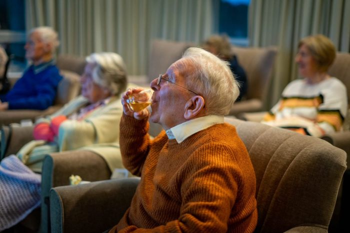 Social Care PR photography, Glenkinchie Distillery Tasting and virtual tour at Cramond Residence.