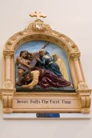 3rd Station: Jesus falls the first time