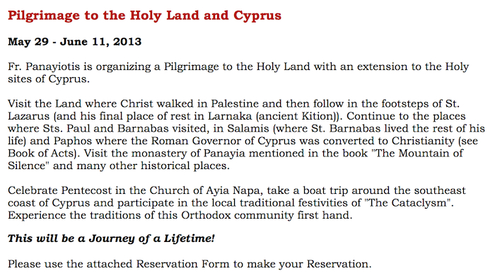 Pilrgimage to the Holy Land and CyprusJPG