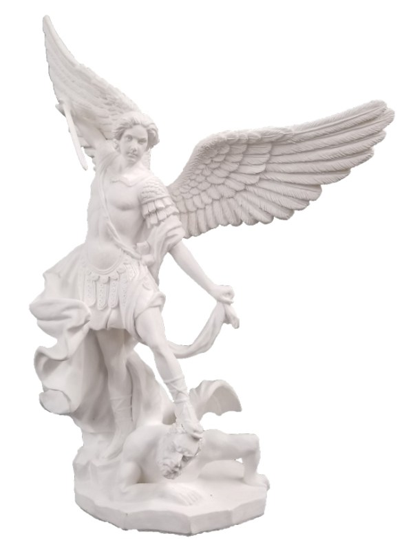 """A Veronese St. Michael in white, 8""""."""