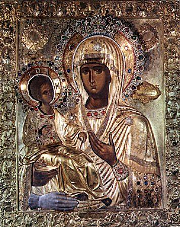 Icon of the Three Hands, taken from www.holytrinityorthodox.com.