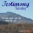 testimonytuesday Holley Gerth