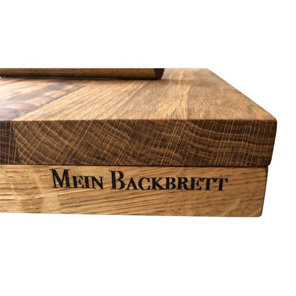 Nudelbrett - Backbrett mit Gravur aus Eichenholz