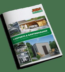 Katalog Carports und Gartenhäuser Joda