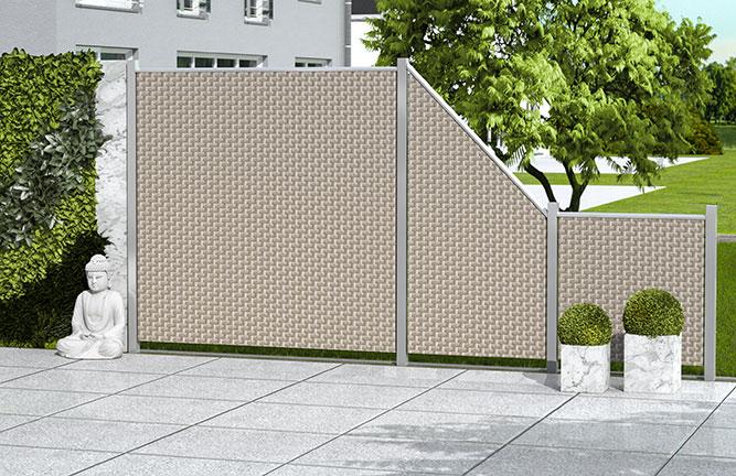 Sichtschutz-Zaun Weave Geflecht, gray