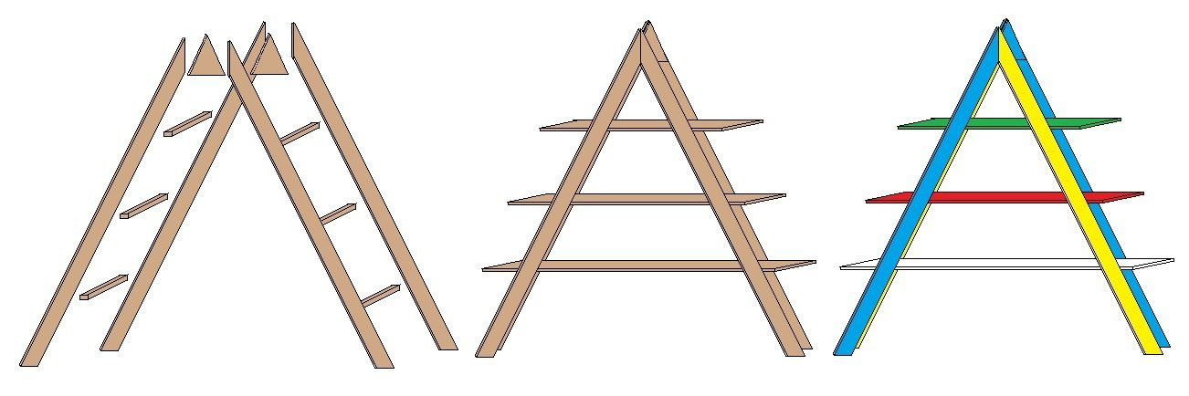 Anleitung – ein buntes Leiterregal bauen › Anleitungen und Tipps zu Holz