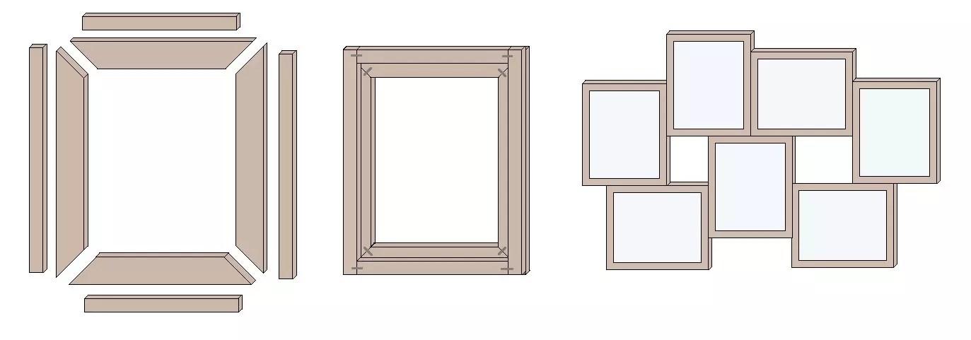 Rahmen für Bildercollage bauen – so geht\'s