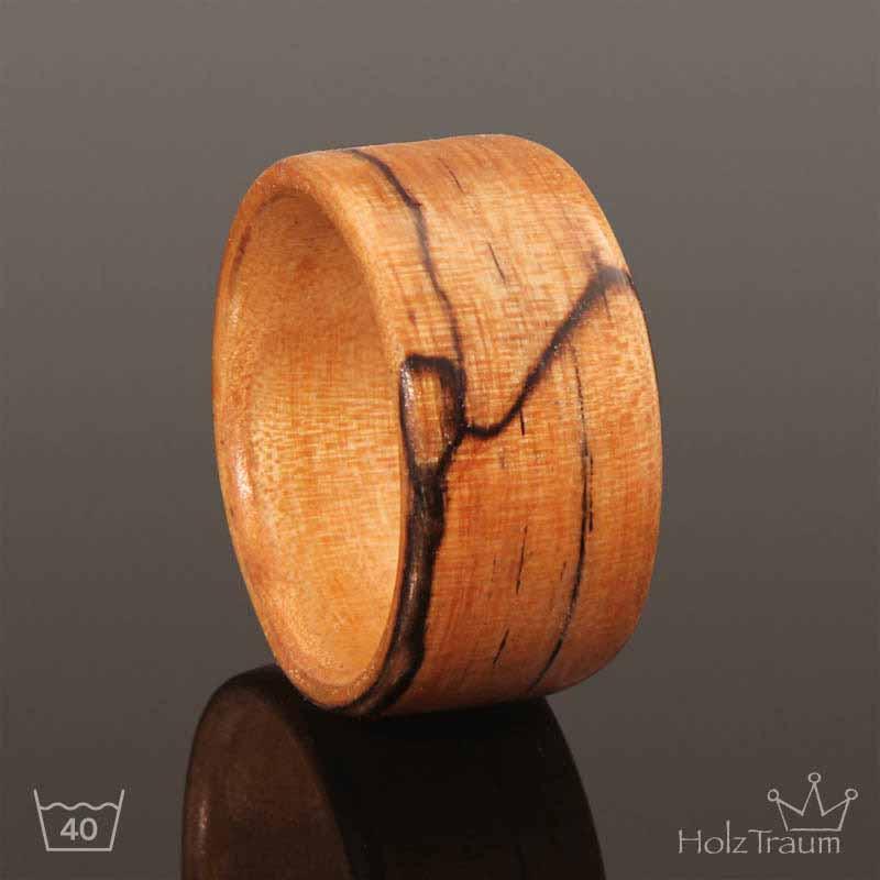 Breiter Holzring aus Trüffelbuche