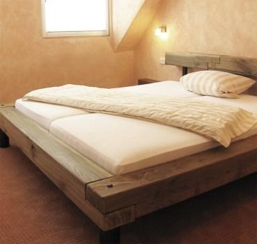 Doppelbett, Eiche geräuchert