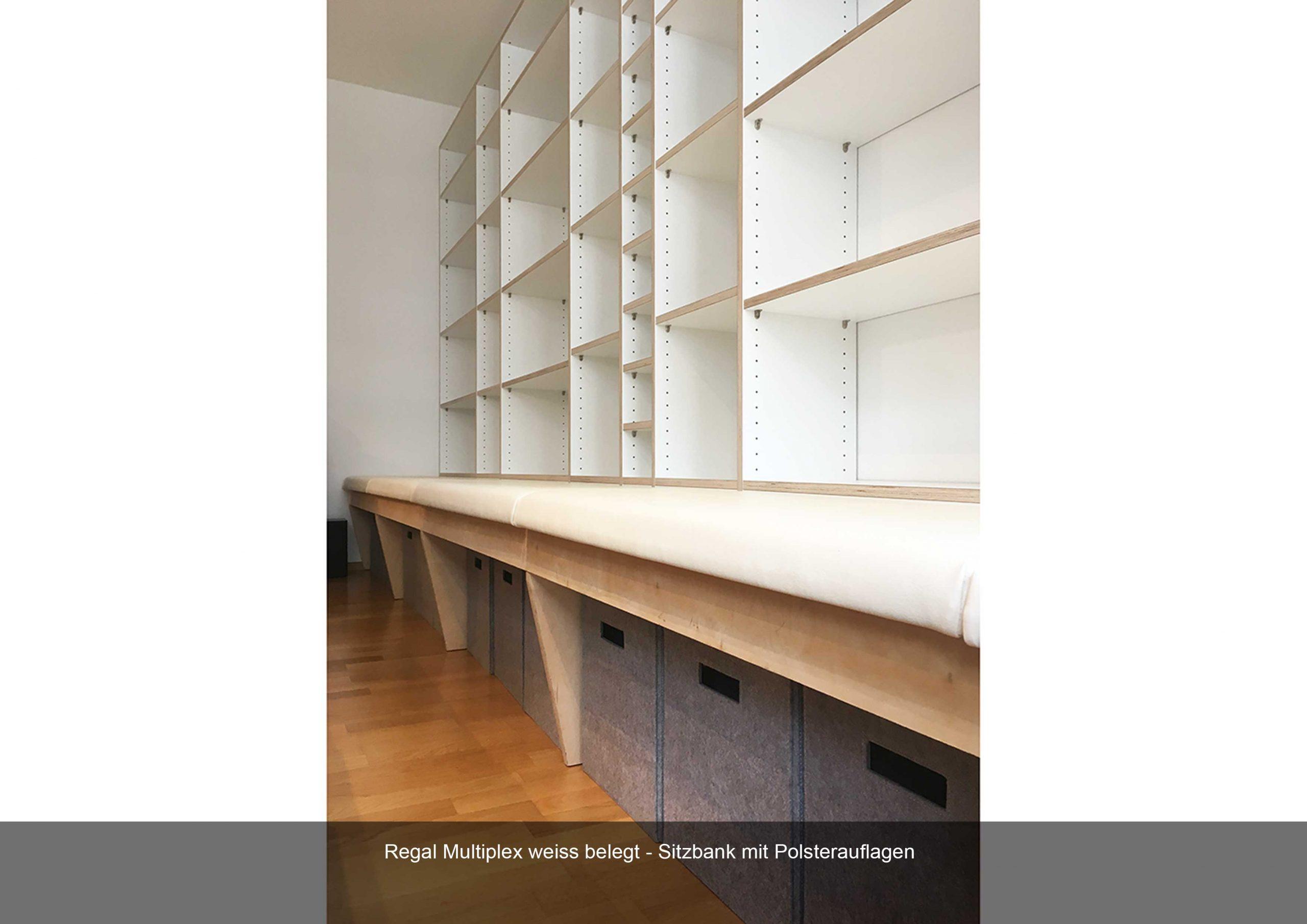 Regal Birke Multiplex weiss Sitzbank Polsterauflage