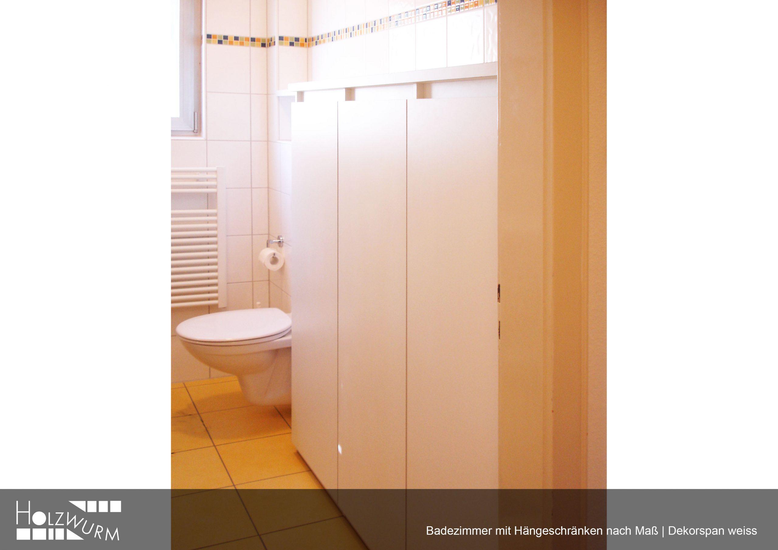 Hängeregal in Dekorspan weiss für Badezimmer