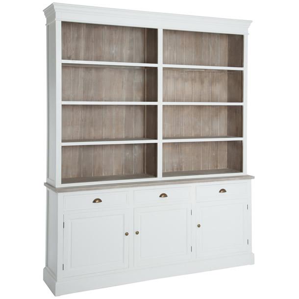 bibliotheque bois blanc
