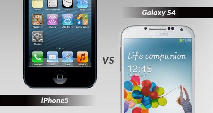 iPhone 5 y Galaxy S4, cara a cara