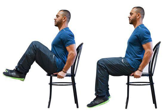 Trabaja tus piernas con la ayuda de una simple silla