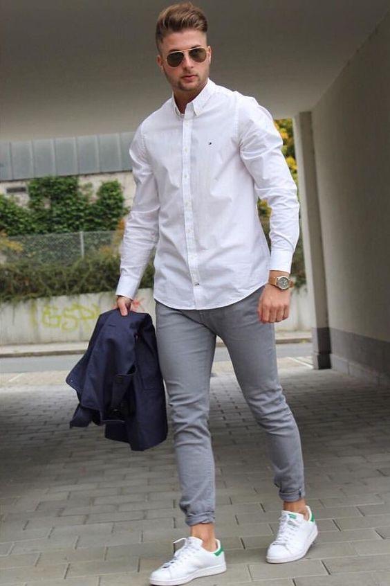 look camisas blancas