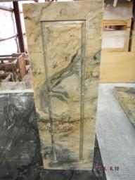 Raised stone panel