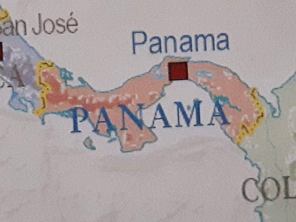living abroad in Boquete Panama, map of Panama