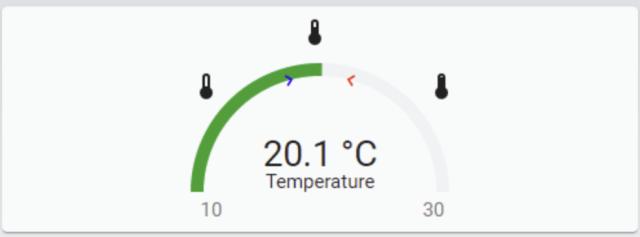 Carte de jauge de température