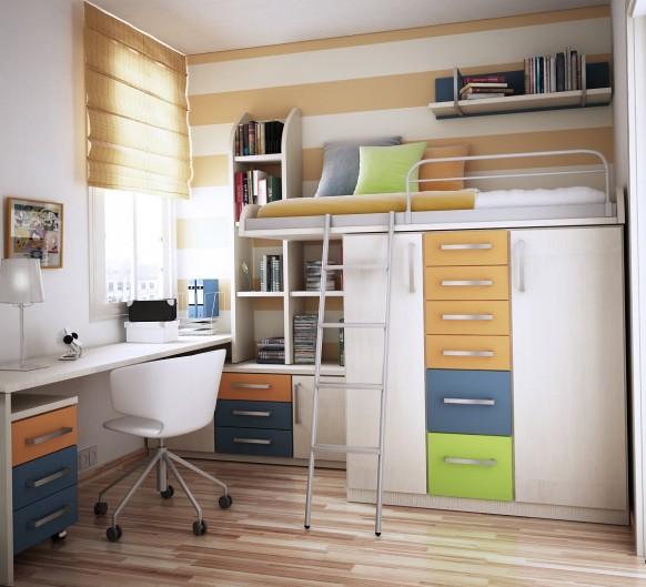 bunk bed & storage
