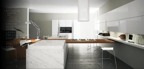 modern kitchen worktable