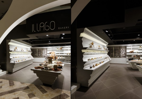 This photo shows how much aisle space a customer has when shopping at Il Lago. Everything is open and there is plenty of room for shoppers to browse.