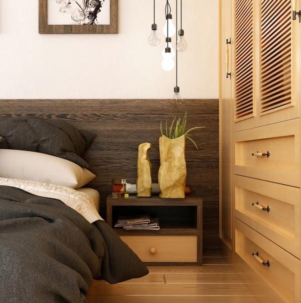 rustic wood bedroom