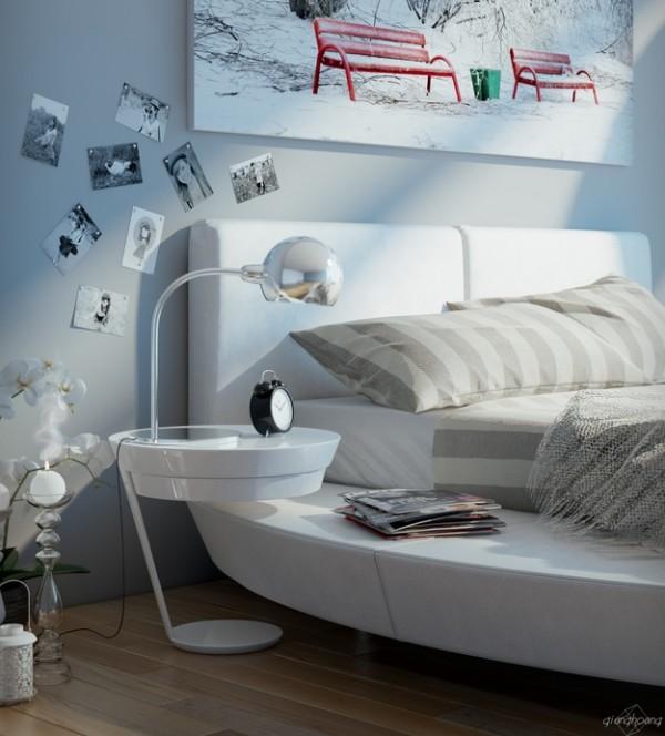 stylish modern bedside table