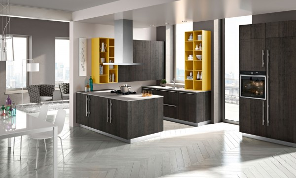 This kitchen is more standard than many of the others but still has the clean and sleek feel of the others featured here.