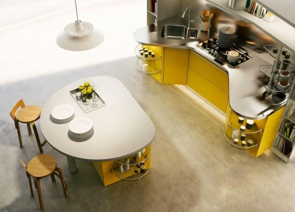 round kitchen island