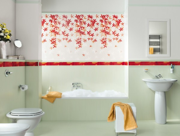You can even paint a picture with patterned tiles.