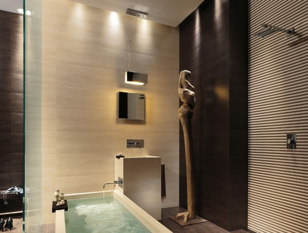 Ultra contemporary bathroom
