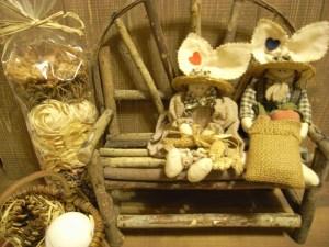 イス型雑貨 ぬいぐるみや人形を座らせて