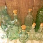 瓶を並べる