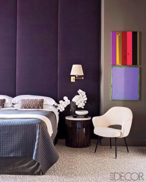 clip:紫xベージュ+アイボリー 寝室