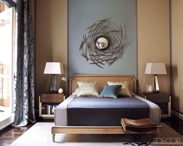 clip:ベージュxブルーグレイ 寝室