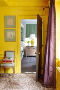 clip:黄色x紫 ベッドルーム