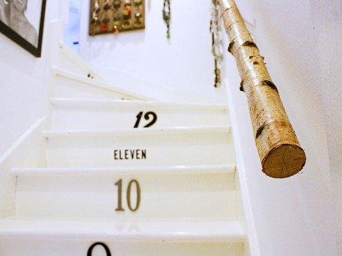 階段にナンバーをつけて