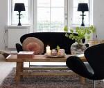 名作家具が飾る部屋:ヤコブセンのスワンチェア シック