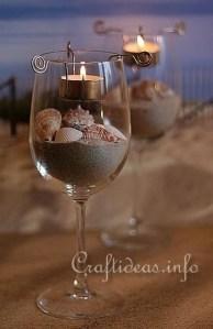 ワイングラスでインテリア