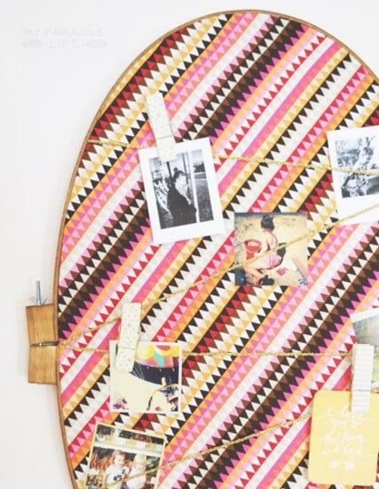 [snap]刺繍枠のピンナップボード