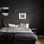 [clip]黒xグレー+白 寝室