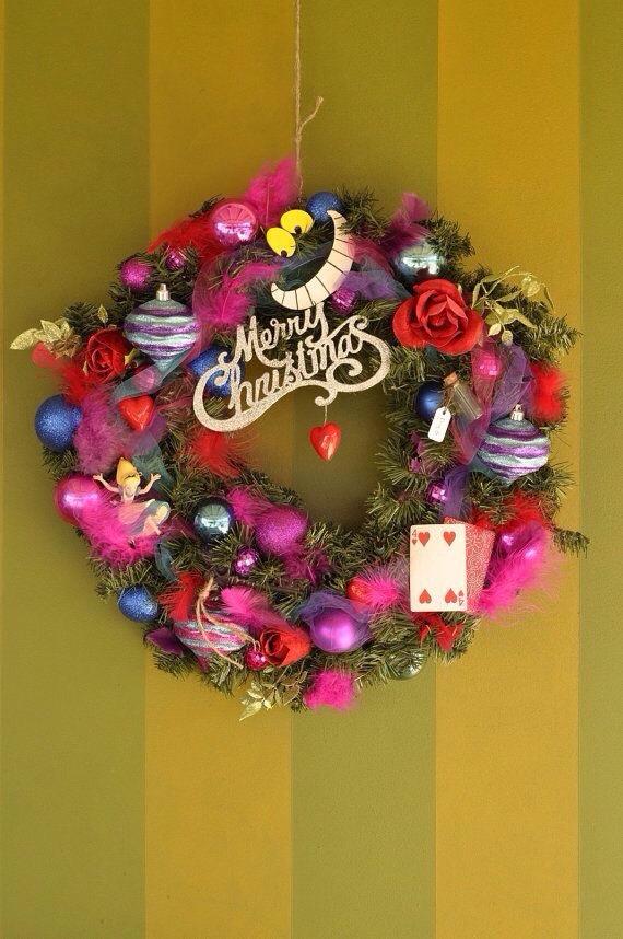 不思議の国のアリス風 クリスマスデコレーション