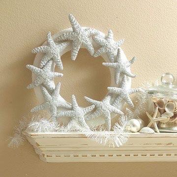 夏の思い出をクリスマスに<br>貝殻を使って