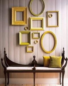 イチョウのような黄色でデコレーション