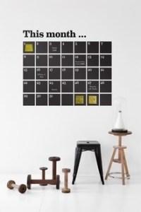 年初めカレンダーを新しくして