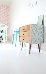 [snap]家具に壁紙を張って可愛らしくリメイク