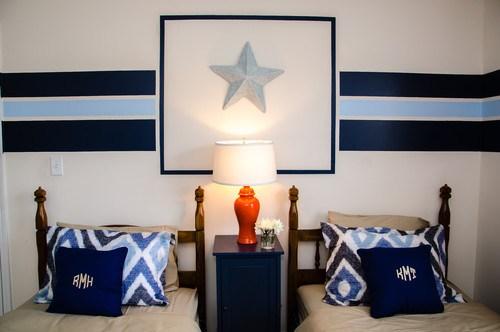 寝室に掲げる星