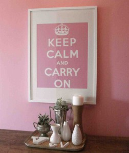 ポスターを飾る KEEP CALM AND CARRY ON