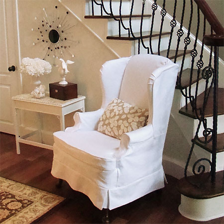 Wingback Chair Slipcover Deals Easy Diy Wing