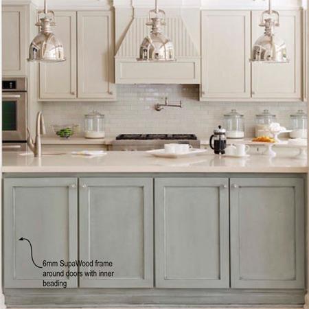 HOME DZINE Kitchen Plain White Melamine Kitchen Goes Coastal